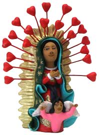 Virgin of Guadalupe with a Halo of Hearts