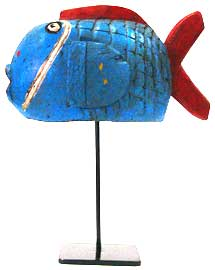 Blue Fish Puppet