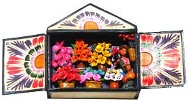 Flower Shop Matchbox Retablo