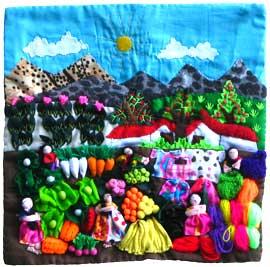 Market Day Arpillera