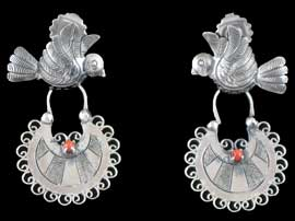 Classic Mexican Dove Earrings