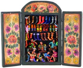 Shoemaker Workshop Retablo Medium
